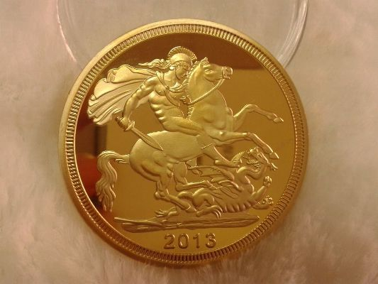золотая монета 2013 года