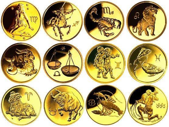 золотые монеты сбербанка знаки зодиака