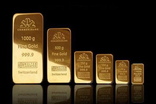 слитки золота разных размеров