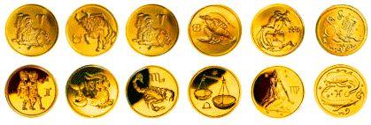 монета знаки зодиака