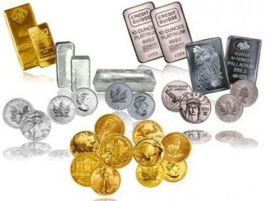 золото серебро платина