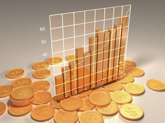 золотые монеты в графике