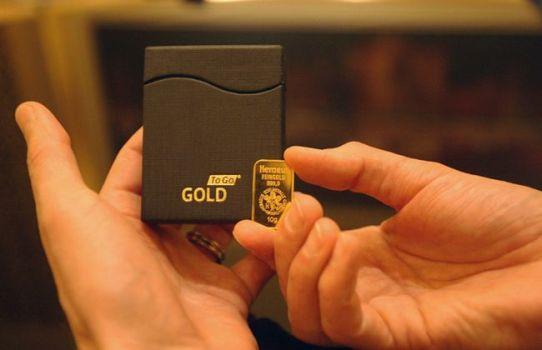 подарочная упаковка золота для золотого слитка