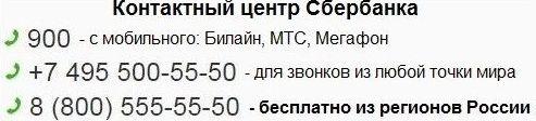 контактный центр сбербанка
