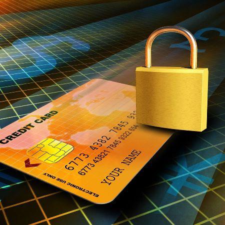 кредитная карта под замком