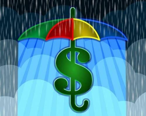 доллар под зонтом